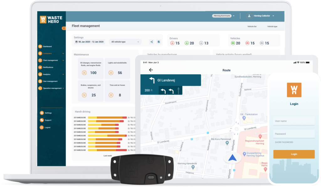 Dashboard, App, Sensor